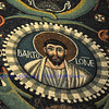 Portrait of Apostle Saint Bartholomew or Bar-Ptolomy. From the UNESCO listed byzantine mosaics of Saint Vitalis, Ravenna, Italy