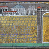 UNESCO listed byzantine mosaic of the fortress at the roman port of Classis near to Ravenna, in the basilica of Saint Apollinaris, Ravenna Italy
