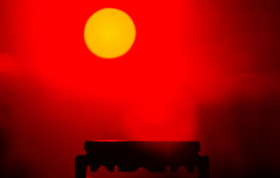 Razor with the sun
