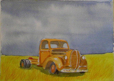 12 Abandoned 2, 5x7 watercolor, aug 4, 2013 CIMG8878