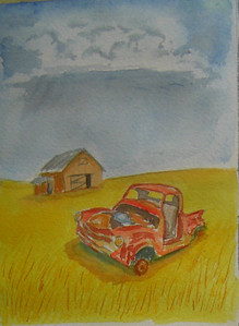 14 Abandoned 4, 5x7 watercolor, completed aug 4, 2013 CIMG8879