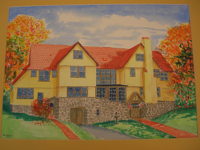 Rockledge Lodge, 10x14 watercolor, completed sep 16, 2013 CIMG9074
