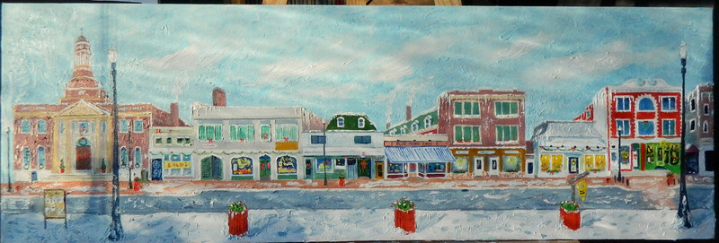 1 Main Street 12x36, oil, completed jan 27, 2013 DSCN2016sm