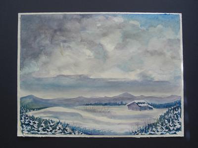 20 Spring, Norman's Ridge, 9x12 watercolor, aug 17, 2013 CIMG8906