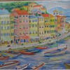 9 Italian Seaside Village  watercolor, 29x21, july 27, 2013 CIMG8868ss