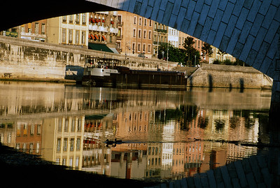Reflections in the Rhone River