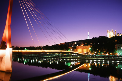 The Pedestrian Bridge at Dusk