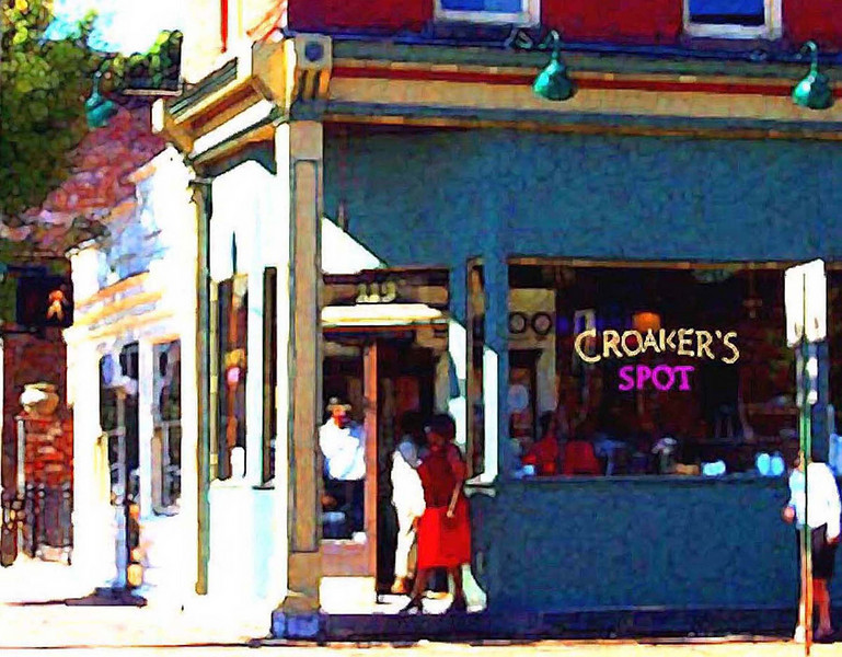 The outside of Croaker's Spot in Richmond's Historic Jackson Ward-Detail