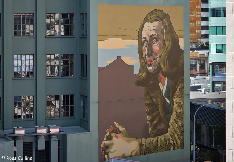 Rita Angus Mural, Bond Street, Wellington, 23 January 2019