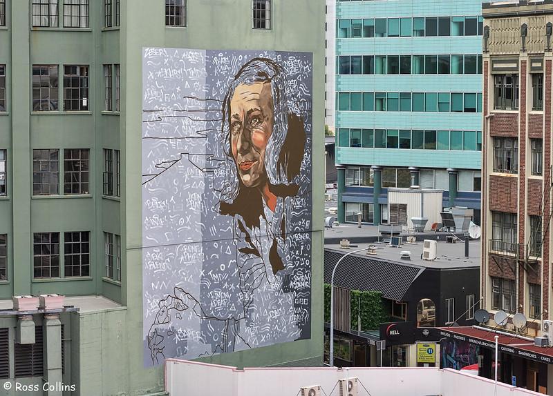 Rita Angus Mural, Bond Street, Wellington, 18 January 2019