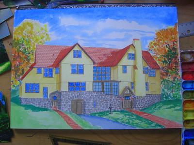 Rockledge Lodge, 10x14 watercolor, sep 15, 2013 CIMG9070