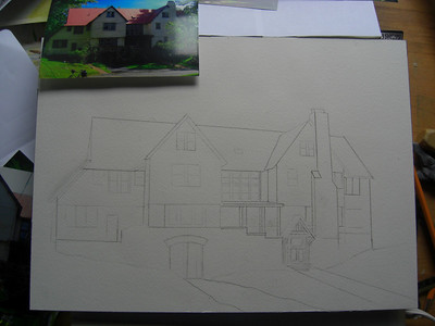Rockledge Lodge, 10x14 watercolor, sep 10, 2013 CIMG9051