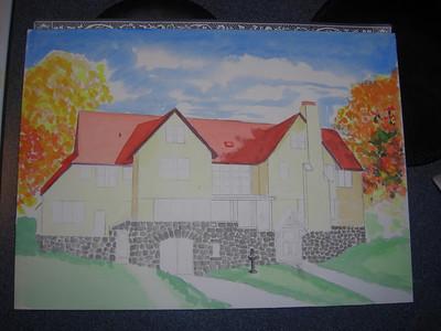 Rockledge Lodge, 10x14 watercolor, sep 13, 2013 CIMG9063