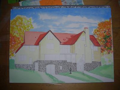 Rockledge Lodge, 10x14 watercolor, sep 13, 2013 CIMG9062