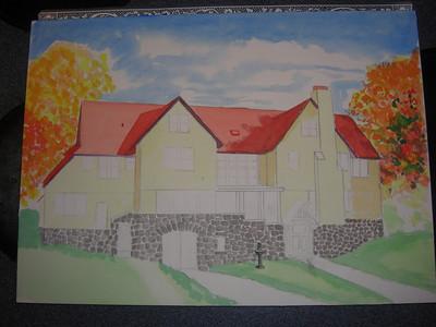 Rockledge Lodge, 10x14 watercolor, sep 13, 2013 CIMG9064
