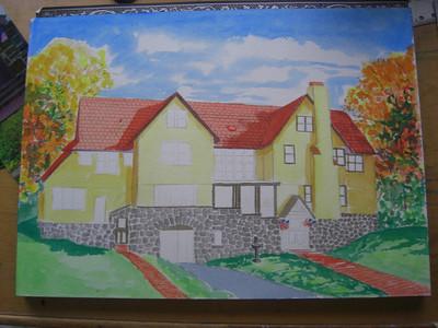 Rockledge Lodge, 10x14 watercolor, sep 15, 2013 CIMG9069