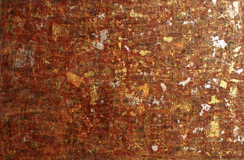 Shades of Siena - November 2012 - 48x72 - oil and metal leafing on canvas.