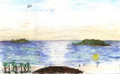 Travel painting: Mazatlan Islands