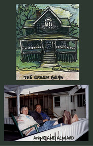 Sketch and collage: Green Bean cottage, Higgins Beach Maine