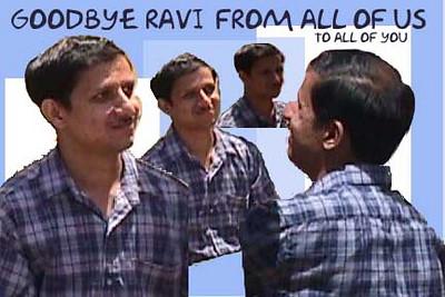 Sun coworker cards: Ravi goodbye
