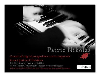 Poster: Patric Nikolas South Bay Concert series (color)