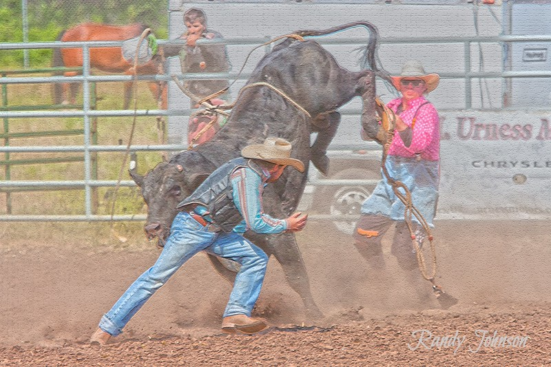 This cowboy was Kind enough to fill in for the Bull Fighter that got injured moments before.