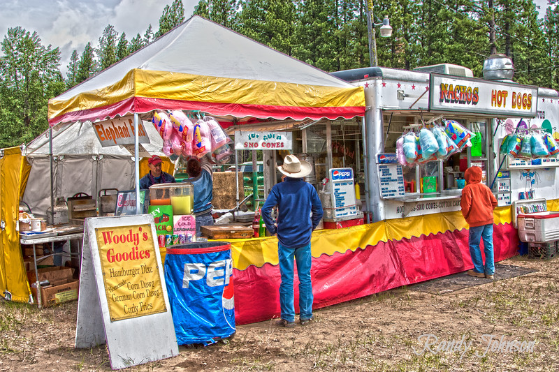 Vender Woody's Goodies at the Glennwood Rodeo 2011