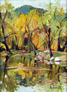 The Fishing Pond 12x9
