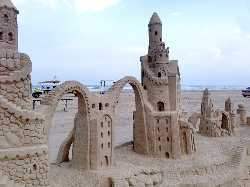 Castles made of sand.