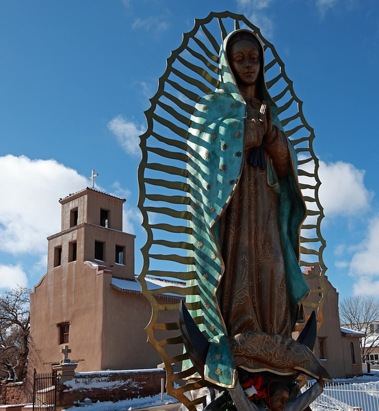 In front of the Virgin of Guadalupe church
