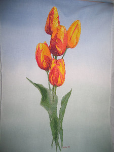 Rembrandt Tulips by Silver Lining, completed late October, 2005.