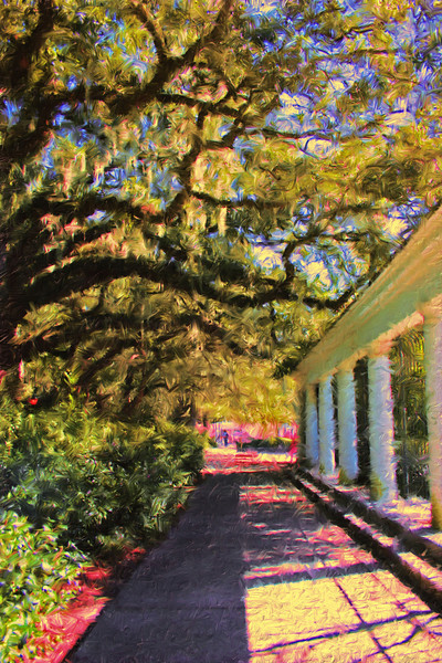 Garden Walk in one of the Squares in Savannah
