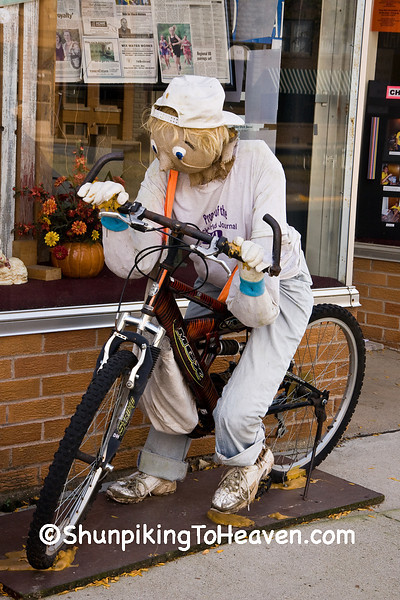 Newspaper Boy Scarecrow, Ackley, Iowa