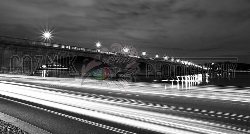 DC Night Series - December 2012<br /> ohio drive & memorial bridge steps view