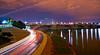 DC Night Series - December 2012<br /> ohio drive/potomac river & memorial bridge southeast view