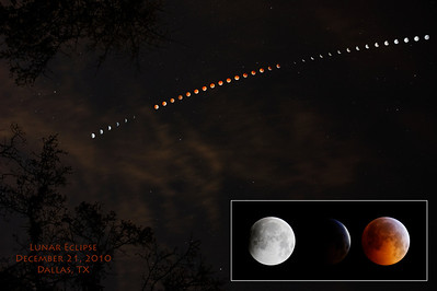 Lunar Eclipse, December 21, 2010, Dallas, TX