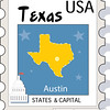us state texas stamp clipart