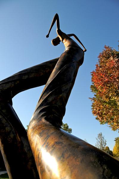 The tall man on Loveland's outdoor sculpture scene.