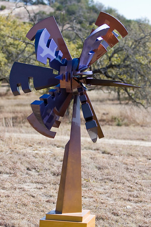 "Event Horizon  90"" tall ChromaLusion over welded steel"