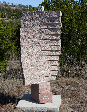 "Truth  75"" tall, granite"
