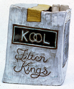 KOOLS Glazed ceramic 1969 First piece of ceramic sculpture Collection of the artist. Available.