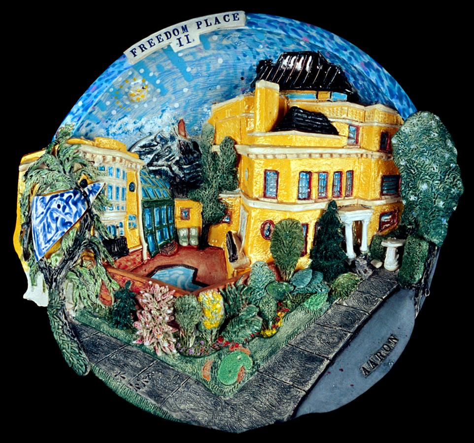 "Freedom Place #2 Glazed porcelain 13"" x 14"" x 6"" John Aaron, Artist photo: Al Underwood Private collection, Washington, DC"