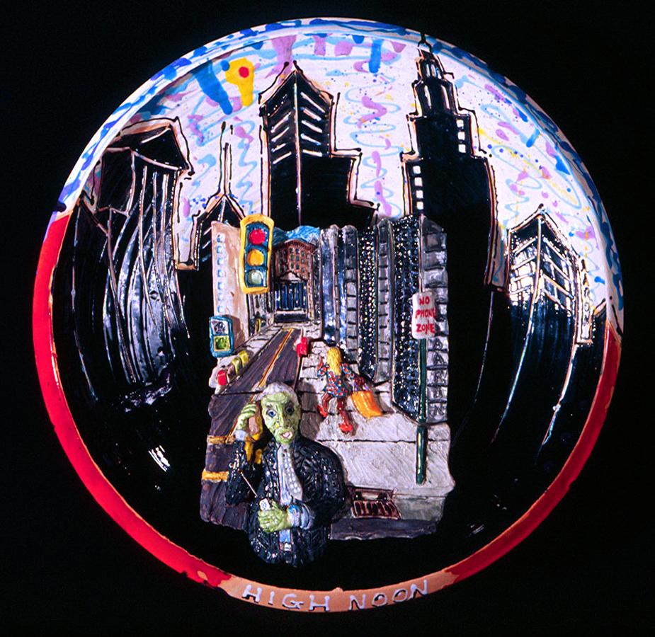 High Noon Manhattan Glazed porcelain. mixed John Aaron, Artist Private collection, Arlington, VA photo: Al Underwood