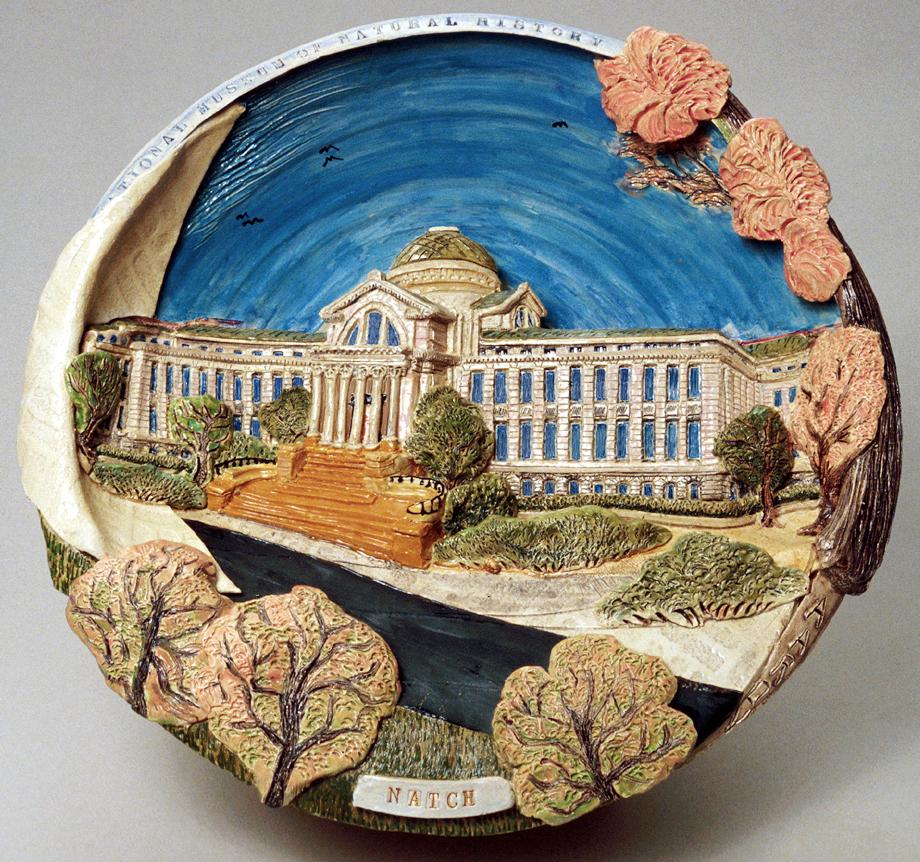 "Natch (Museum of Natural History, DC) Glazed porcelain 16"" x 16"" x 6"" John Aaron, Artist photo: Al Underwood Available"