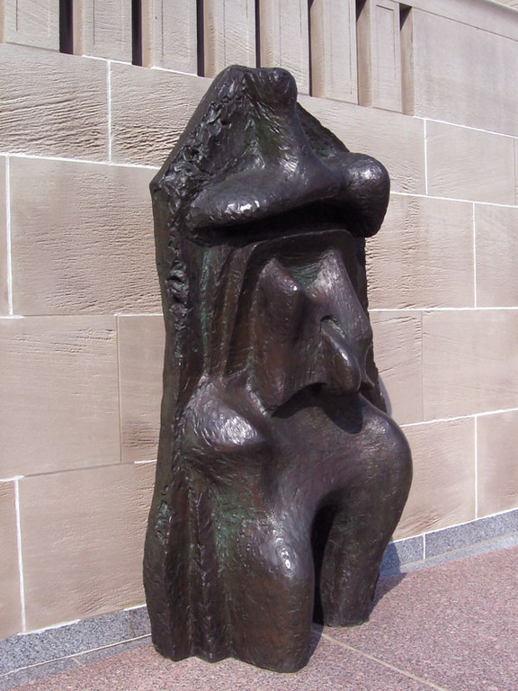 Henry Moore sculpture - Relief No. 1, 1959.