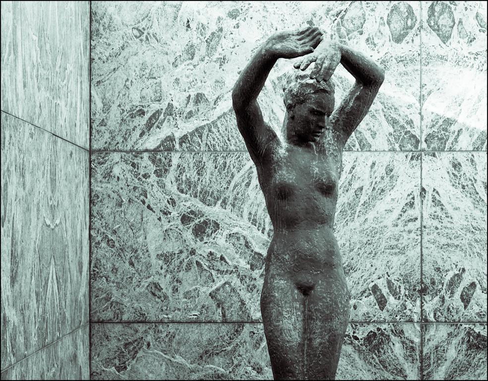 Sculpture in Pavilló MIes van der Rohe, Barcelona
