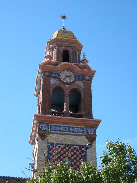 Clock tower on the Plaza.