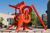A sculpture across from the Denver Art Museum