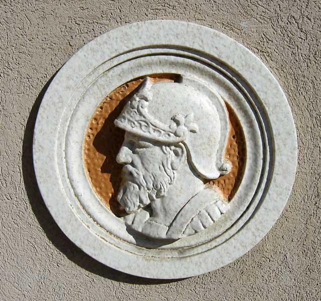 Greek wall plaque.