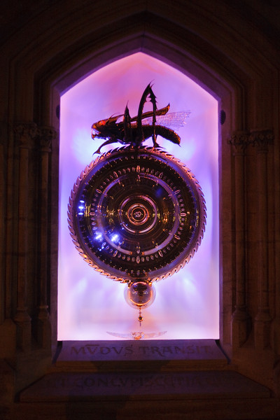 "Corpus Christi College Chronophage Clock - info <p><a href=""http://en.wikipedia.org/wiki/Corpus_Clock"" target=""_blank"">here</a></p>"